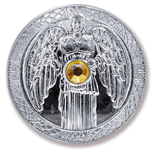 Talisman Schutzengel Engeltaler Erzengel Jophiel, Ø 27mm Taler Silber mit Swarovski Elements, Glücksbringer, Glücksmünze