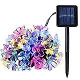 Nsdsb Cadena De Luces Solares 8 Modos 30 Luces De Cadena Led Impermeable Jardín Patio Patio Luz Colorida 6.5M