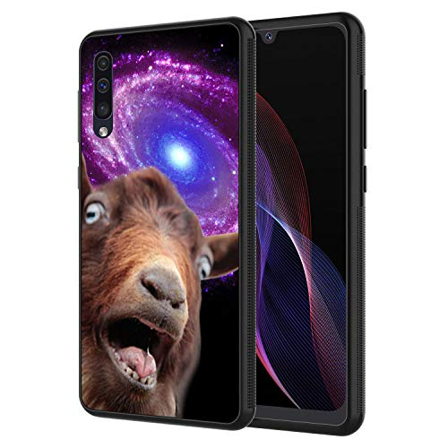 Galaxy A10E Case, AIRWEE Slim Shockproof Silicone TPU Back Protective Cover Case for Samsung Galaxy A10E, Funny Space Goat Meme