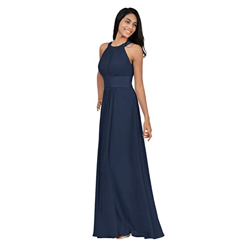 Navy Blue and Pink Bridesmaid Dresses