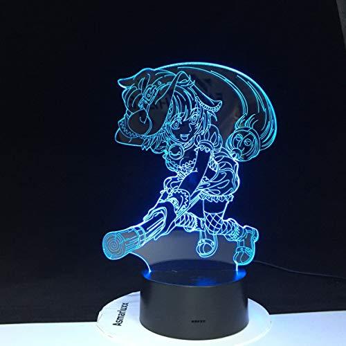 Solo 1 pieza Dragon Ball Vegeta 3D LED luces nocturnas que cambian de color Control remoto Dragon Ball Super LED lámpara de escritorio para dormitorio