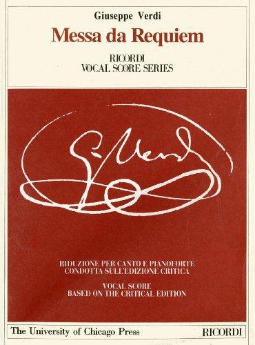 Messa Da Requiem: Piano-Vocal Score (Works of Giuseppe Verdi: Piano Vocal Scores) ,Taschenbuch - Verkürzte, December 2000