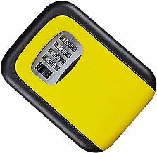 Sleutelkast met slot voor buiten, waterdicht, geel