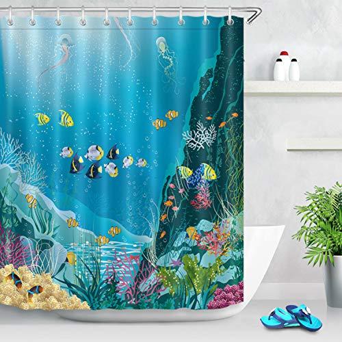 Aliyz Monde Sous-Marin Corail poissons Maison hôtel Bains décoration