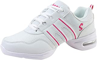 c629b10879a Huatime Zapatillas de Deporte para Mujer Jazz - Suave Ligero Moderno Zapatos  de Baile Malla Superior