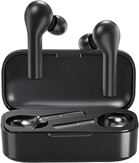 comprar comparacion Auriculares Bluetooth con Modo de Juego, HOMSCAM Impermeable Auriculares Inalámbricos Bluetooth 5.0 QCY HiFi Mini Twins Es...