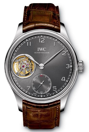 IWC Portuguese Tourbillon Hand Wound White Gold Mens Watch IW546301