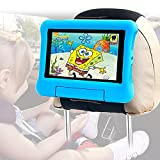 Car Headrest Tablet Holder, Abemala Universal Tablet Car Backseat Seat Mount, Portable Car Headrest Stand for Kids, Compatible with 4.5-12.9 Inch Cell Phones and Tablets, Black