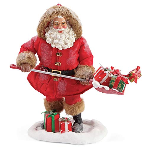 Department 56 Possible Dreams Santa Sports and Leisure Shovel Loads of Gifts Figurine 11 Inch Multicolor