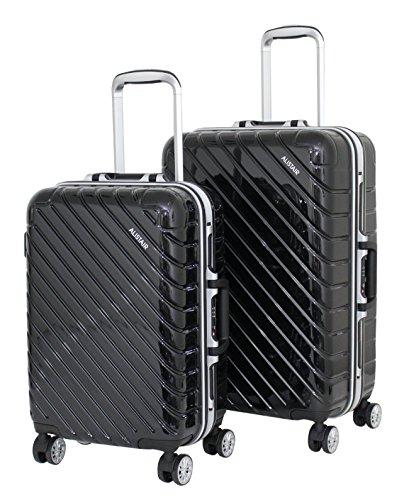 Set de 2 Valises Cabine et Moyenne Alistair Infinity - ABS Ultra Légères - 4 roues - Noir