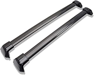 Cross Bars Compatible With 2012-2016 HONDA CRV | Factory Style Aluminum Black Roof Top Bar Luggage Carrier by IKON MOTORSPORTS | 2013 2014 2015