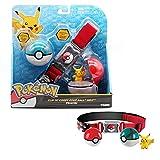 Anime Pokemon Pet Elf Ball Pikachu Cinturón para Niños Juguetes De Pokemon Regalos De Cumpleaños...