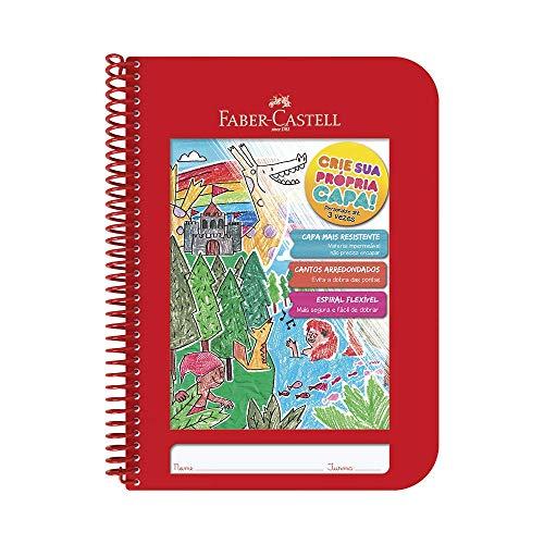 Caderno Criativo, Faber-Castell, CDN/VM, 28.1x20.3cm, Vermelha