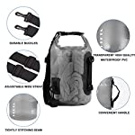 HEETA Waterproof Dry Bag for Women Men, 5L/ 10L/ 20L/ 30L/ 40L Roll Top Lightweight Dry Storage Bag Backpack with Phone… 9 Waterproof - Use professional seamless technology. Our dry bag has the overall waterproof capability, making sure to keep your items and valuables dry when you do some water sports like boating and kayaking but not underwater sports Durable - Made by 0.02 in (0.6 mm) thick wear-resistant material, suitable for outdoor activities, waterproof bag nicely adapts to all kinds of weather and environment Multifunctional - Adjustable Shoulder Straps & Handle for shoulder carrying and backpack, very convenient for different occasions like boating, rafting, kayaking, swimming, mountaineering, etc. The lightweight dry bag won't aggravate the burden of your arms or shoulder