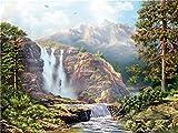 Kit de pintura de diamantes 5D paisaje bordado de diamantes punto de cruz imágenes de cascada de diamantes de imitación mosaico telón de fondo A10 40x50cm