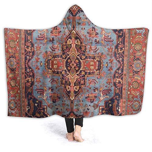 KENDIA Manta con Capucha, Tradicional Persa Isfahan, Estilo de Alfombra Vintage, Franela,...