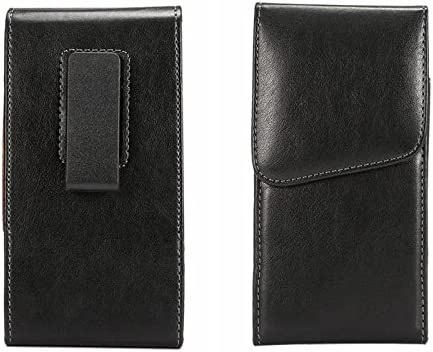 BlackBerry Z30 Black Smooth Leather Vertical Cell Phone Case Belt Holster with Heavy Duty 360 Degree Swivel Belt Clip