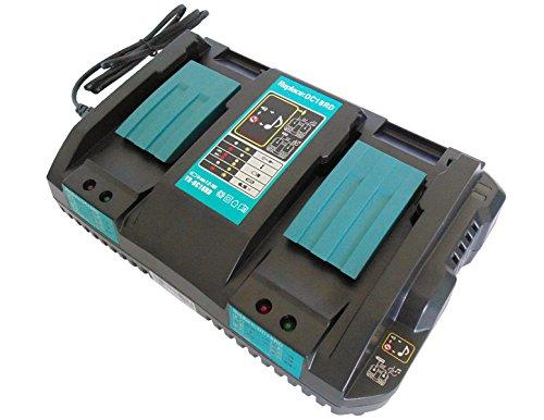 YASI MFG Cargador para Makita DC18RD Doble Cargador rápido 14.4 V - 18 V 4 A DC18RA DC18RC para Makita 18V BL1815 BL1830 B BL1840 B BL1850 B & 14.4V BL1415 BL1430 B BL1440 B BL1450 B