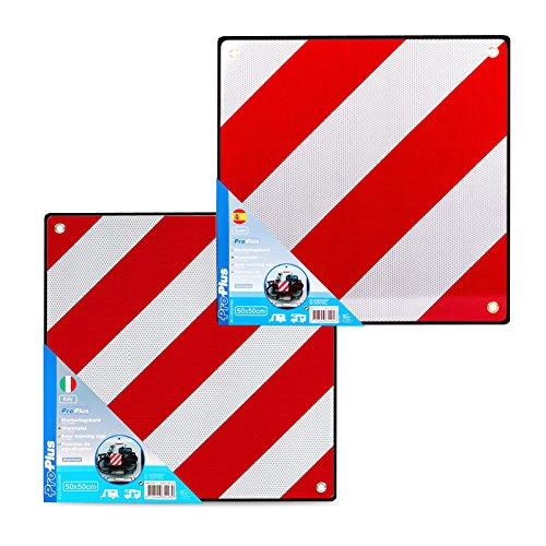 Aluminium waarschuwingsbord SET Spanje en Italië met ogen 50 x 50 cm reflecterend rood/wit
