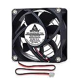 GDSTIME Ventilador de refrigeración sin escobillas de 70 mm x 25 mm DC 24 V PC caso ventilador enfriador de 2 pines portátil disipador de calor refrigeración flujo de aire