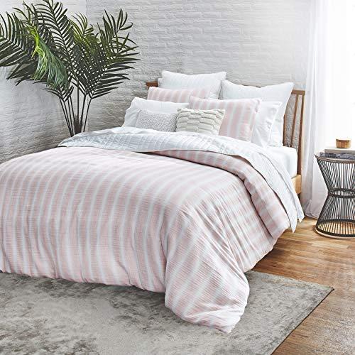Splendid Home Capitola 3-Piece Cotton Comforter & Sham Set, 92ʺW x 96ʺL, Full/Queen, Blush