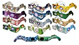 HolidayEyes(R) Christmas 3D Glasses Christmas Glasses 13 Pair Variety Pack - See Santa, Snowman, Reindeer, Candy Canes, Elves, etc, and 1 Christmas/New Years Fireworks Glasses - All Folded