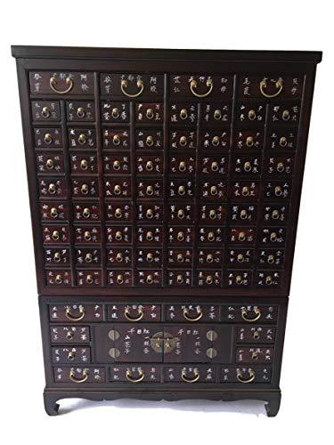 Antik Apothekerschrank Aktenschrank Büroschrank Apotheke Schrank Sideboard Kommode Kommodenschrank Sideboardschrank mit 80 Schubladen Breite104xHöhe151cm