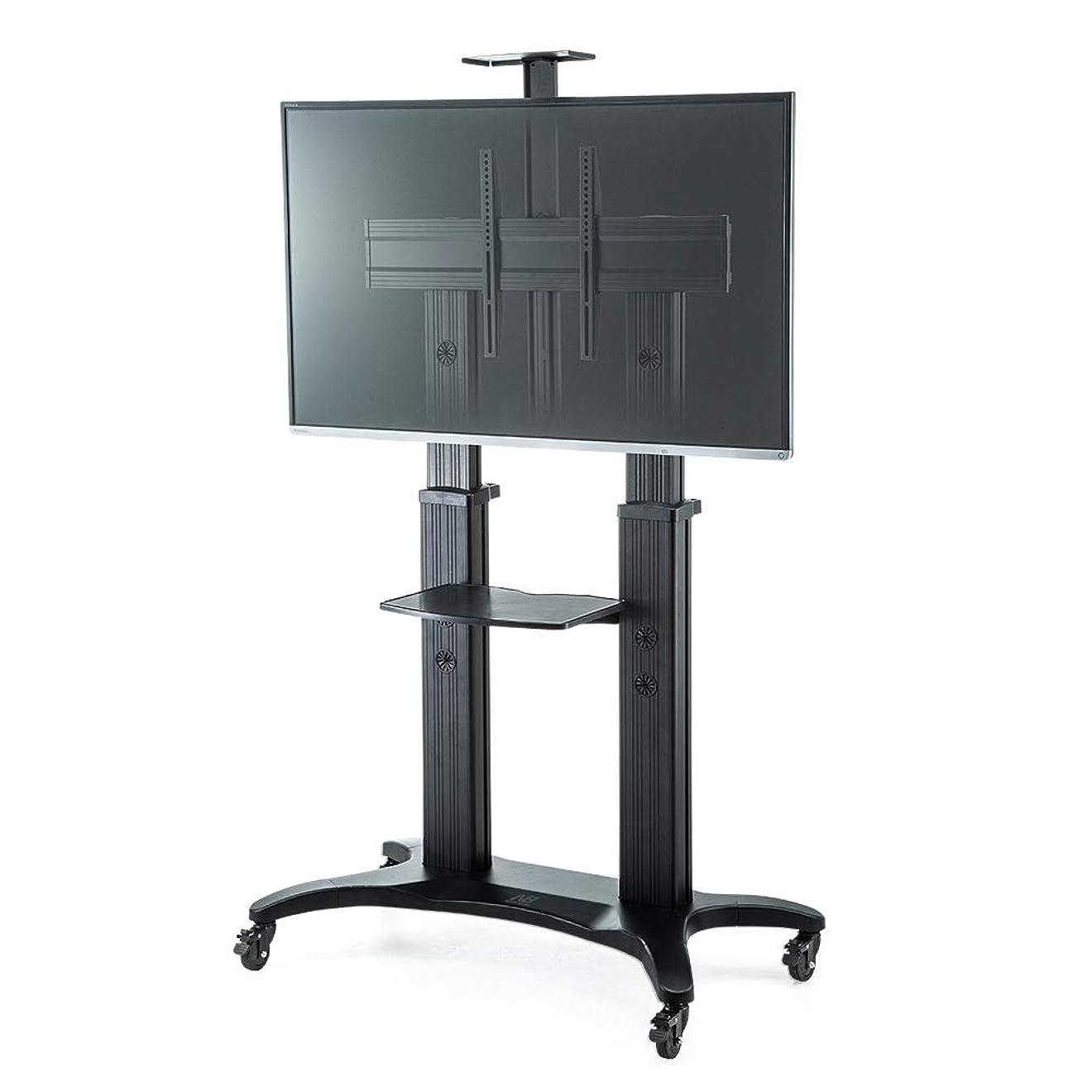 こしょうウォルターカニンガム寝てるイーサプライ テレビスタンド 大型 キャスター 移動式 電子黒板 棚板 業務用 安定性 高さ調整 55~80インチ対応 EEX-TVS005