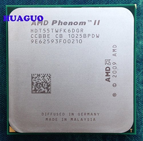 AMD Phenom II X6 1055T - Procesador CPU de seis núcleos (2,8 GHz, HDT55TWFK6DGR AM3, 95 W)