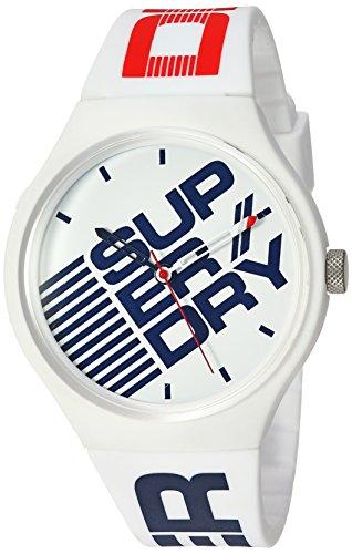 Superdry Unisex– Erwachsene Analog Quarz Uhr mit Kunststoff Armband SYG226W