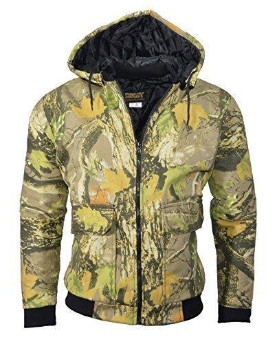 stormkloth/dallaswear Tempesta Kloth Bomber con Cappuccio portatiòli Camouflage Gods Country Camo Small