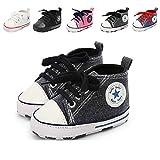 Babycute - Zapatillas de lona para bebé con suela suave y cordones, informales, para...