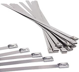 Lot de 25/attaches de c/âbles Gocableties en acier inoxydable de qualit/é sup/érieure/ Attaches de qualit/é marine 316 sup/érieure 150/mm x 4,6/mm/