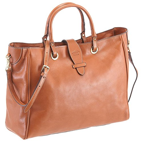 Brics Life Pelle Shopping Bag Umhängetasche 39 cm Cognac