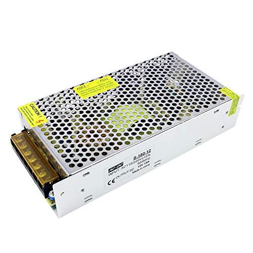 Lixada Transformador de Potencia Transformador de Voltaje AC 100-240V a DC 12V 33A 400W Conmutación Regulada Fuentes de Alimentación Adaptador Convertidor para Tiras Cámara Ligera