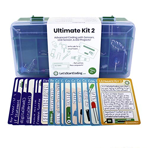 Ultimate Coding Kit 2 for Boys and Girls Aged 10,11,12,13,14 to Learn STEM Programming Skills with 100+ Free Online Projects