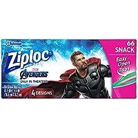 66-Count Ziploc Easy Open Tabs Snack Bags
