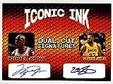 MIchael Jordan Lebron James Iconic Ink Dual Cut Signatures Facsimile Auto - Basketball Card