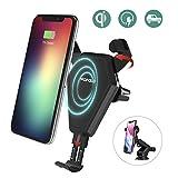 Caricatore Wireless Rapido,Wofalo ricarica rapida wireless Car Mount per Samsung Galaxy Note 8/ S8/ S8+/ S7/ S6 Edge+/ Note 5,Qi Charging Standard per iPhone X/8/8 Plus