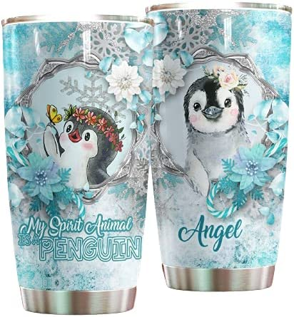 Personalized 大放出セール Penguin My Spirit Animal A Ste Stainless Is 与え