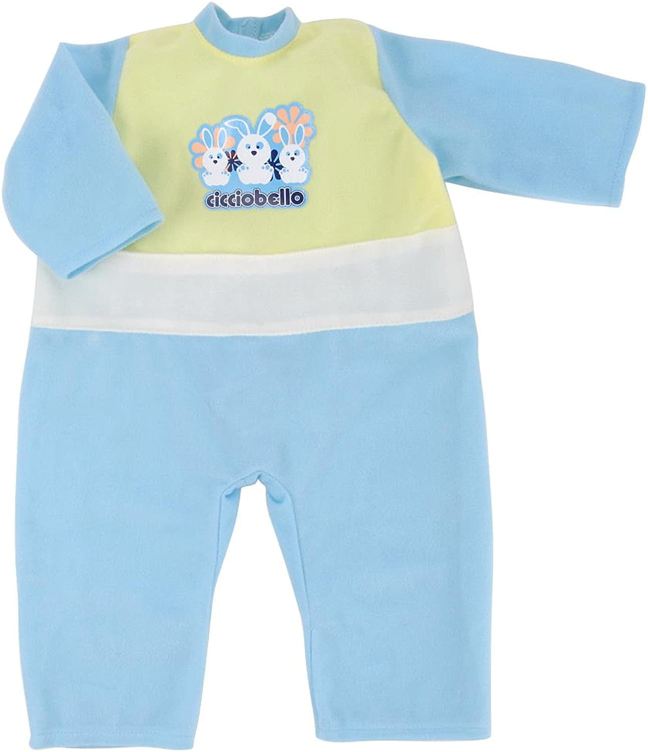 Cicciobello Doll Outfit  bluee and Green Romper