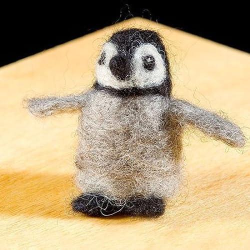 Wool Animal Felting Kits, in Penguin by WoolPets