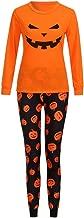 طقم سراويل للأطفال من Cutemom مطبوع عليها Pumpkin بأكمام طويلة + سراويل الخدمة المنزلية طقم بيجامات عائلية لعيد القديسين