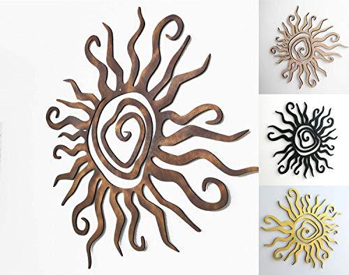 kh Teile Wanddeko Sonne Spirale Wandbild Innen Außen Garten Geschenk Idee Wandschmuck Wand Deko 3D Echt Holz