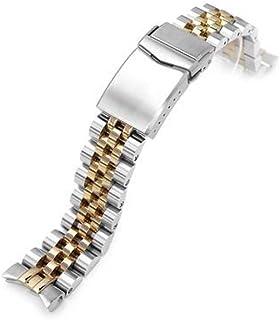 Cinturino per orologio con cinturino 20mm Orologio da polso in acciaio inossidabile 316L ANGUS Jubilee per Seiko Alpinist ...