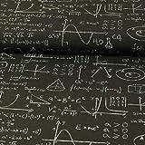 Dekostoff höhere Mathematik schwarz dekorationen