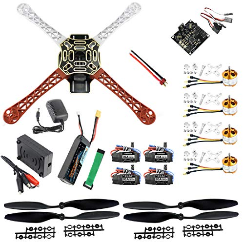 QWinOut F450 DIY RC Quadcopter 4 axle Drone ARF Kit No TX RX : KK V2.3 Flight Control A2212 1000KV Motor 30A ESC Lipo 450mm Flamewheel