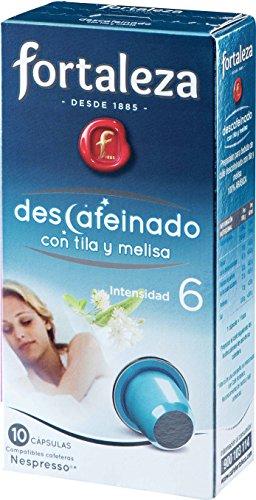 Café FORTALEZA - Cápsulas de café Descafeinado Tila y Melisa Compatibles con Nespresso - Pack 5 x 10 - Total 50 Cápsulas