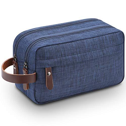 Mens Dopp Kit,Lanivas Lots of Pockets Overnight Camping Gym Travel Accessory Blue