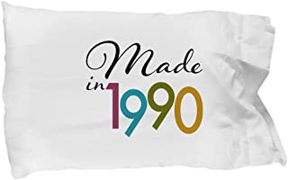 DesiDD Happy 28th Birthday Ideas for Her - Gifts for 28 Year Old - Presents for 28th Birthday Pillowcase - Made in 1990 for Wife Women Mom from Daughter